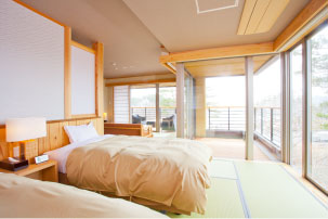 【Sky view annex Jiro no iori】Modern Japanese-style Room with outdoor bath(16-mats)