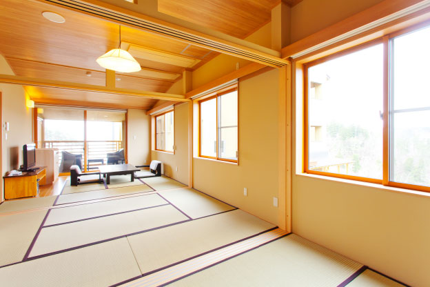【Main building  Taro no iori】Modern Japanese-style Room with outdoor bath (8-mats +6-mats +4.5-mats)