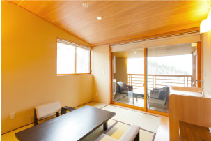 【Main building  Taro no iori】Modern Japanese-style Room with outdoor bath (8-mats +6-mats)
