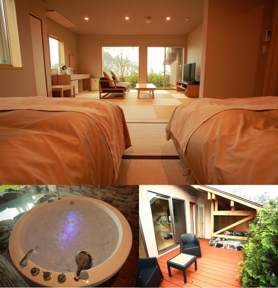 【Annex Saburo no iori】Modern Japanese-style Room with outdoor bath(20-mats)